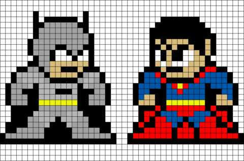 Batman Vs Superman Pixel Art Pixel Art Easy Pixel Art