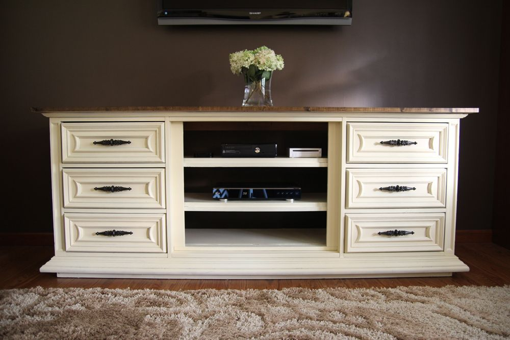 Our New Entertainment Center Made From An Old Dresser Dresser Entertainment Center Dresser Tv Stand Old Dressers