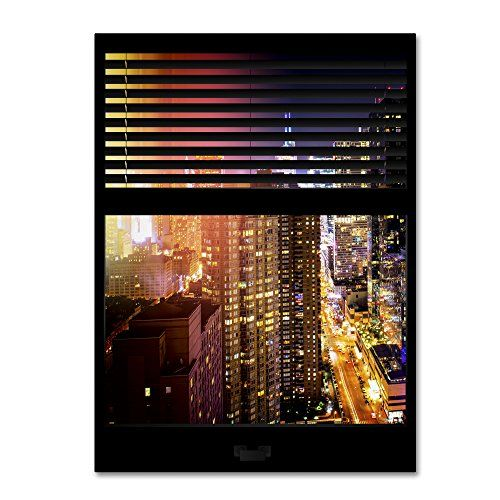 "Trademark Fine Art Window View Manhattan Night 5 by Philippe Hugonnard Wall Decor, 24 x 32"" Trademark Fine Art http://www.amazon.com/dp/B011N60B7Q/ref=cm_sw_r_pi_dp_xH0Uvb1F2RBCF"