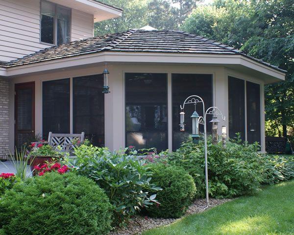 Custom pool enclosure hexagon shape Covers Hexagon Shaped Porch Lightning Aluminum Inc Garages Enclosures Outbuildings Hexagon Shaped Porch Outdoor Living Spaces In 2019 Porch