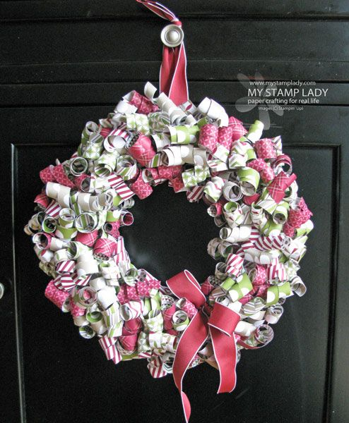 Paper Christmas Wreath Ideas.Pin On Other Items