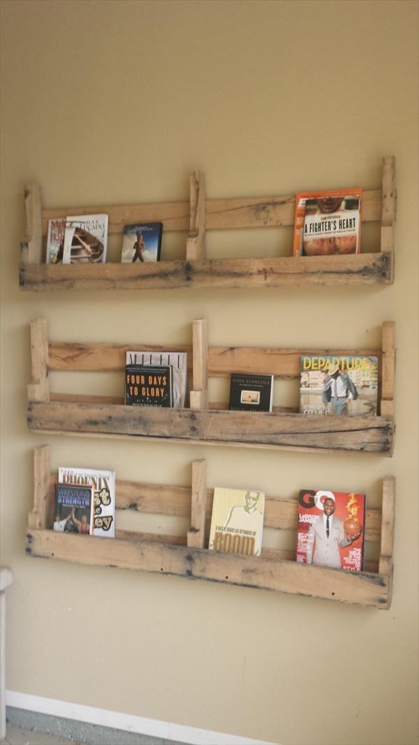 Diy Pallet Wall Shelf Wooden Pallet Furniture Wooden Pallet