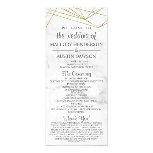 Marble geometric modern wedding program frontback marble wedding marble geometric modern wedding program frontback stopboris Images