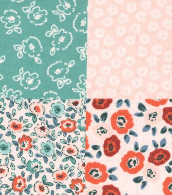 Snuggle Flannel Fabric Floral Patch