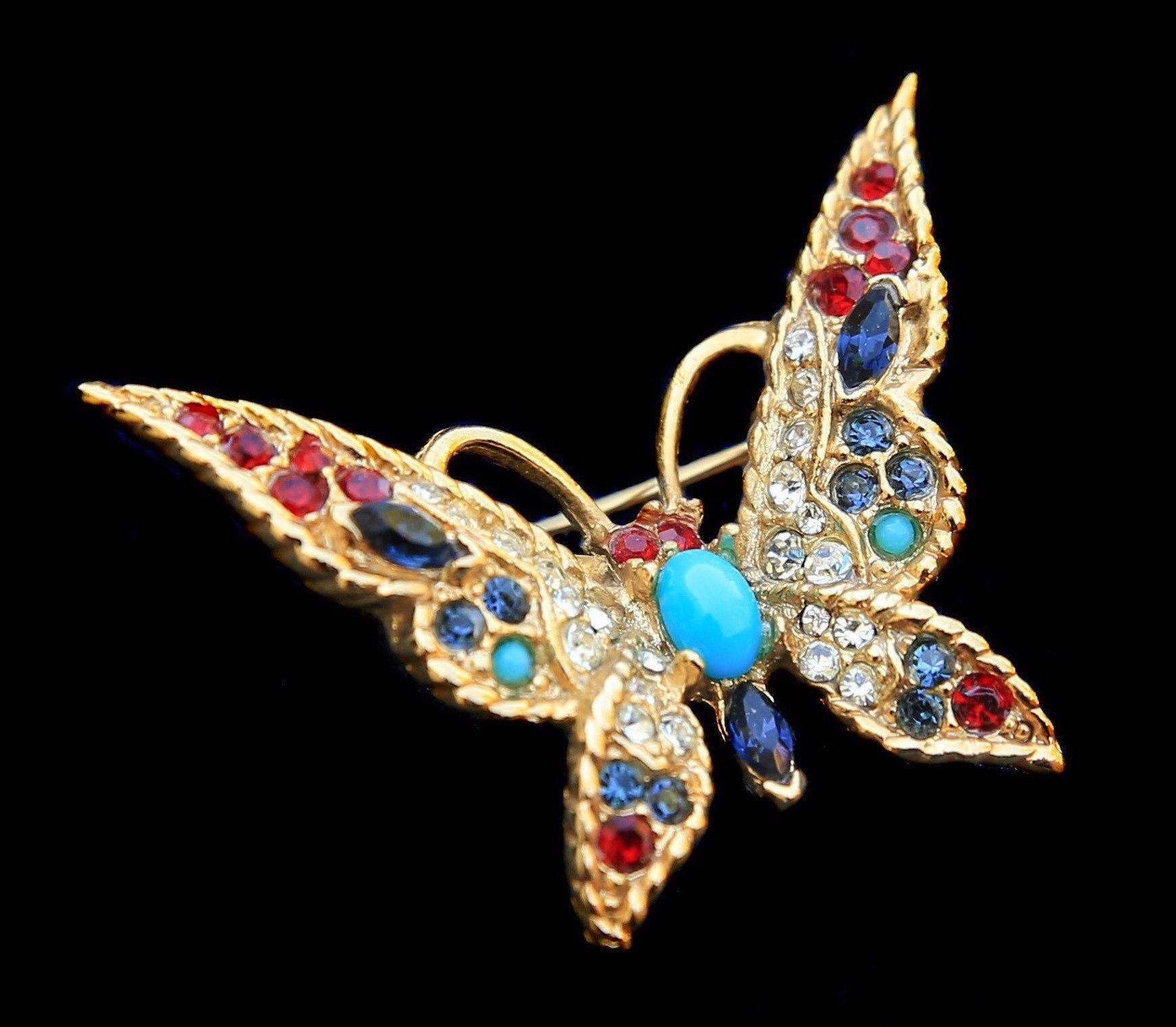 Vintage Sphinx Erfly Brooch Pin