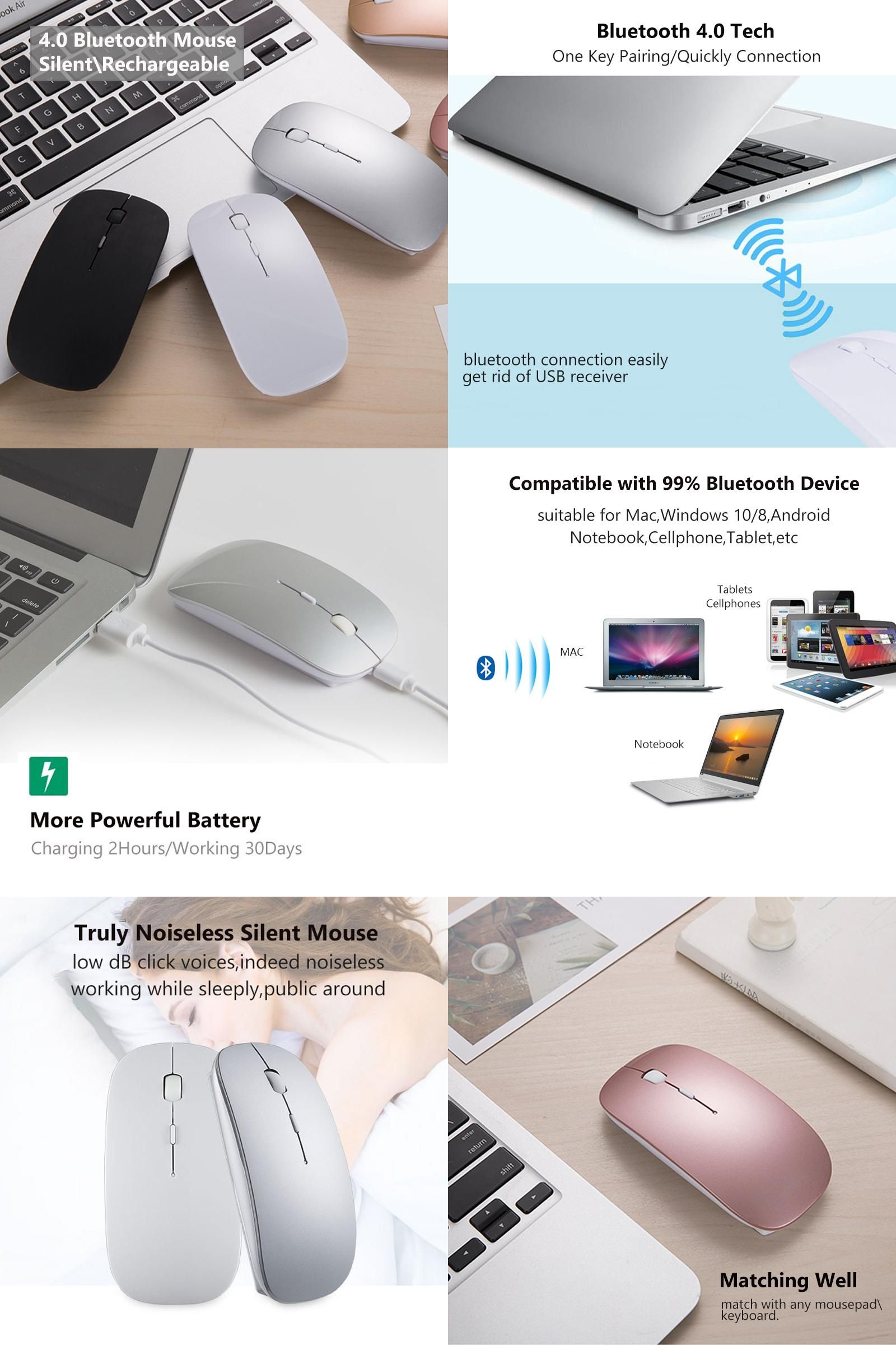 Visit To Buy New Bluetooth 40 Wireless Mouse Mini Rechargeable Keyboard Dell Usb Computer For