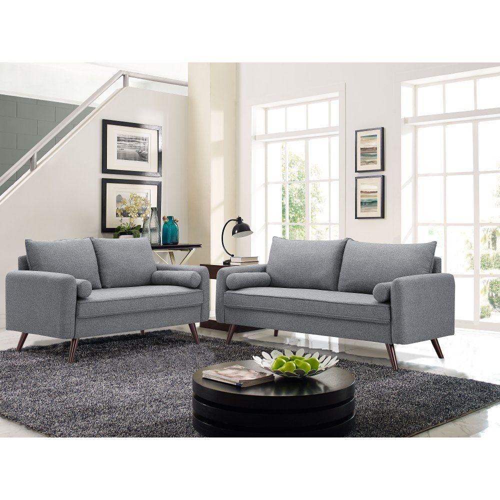 Modern Gray Sofa Carson In 2019 Living Room Modern Grey