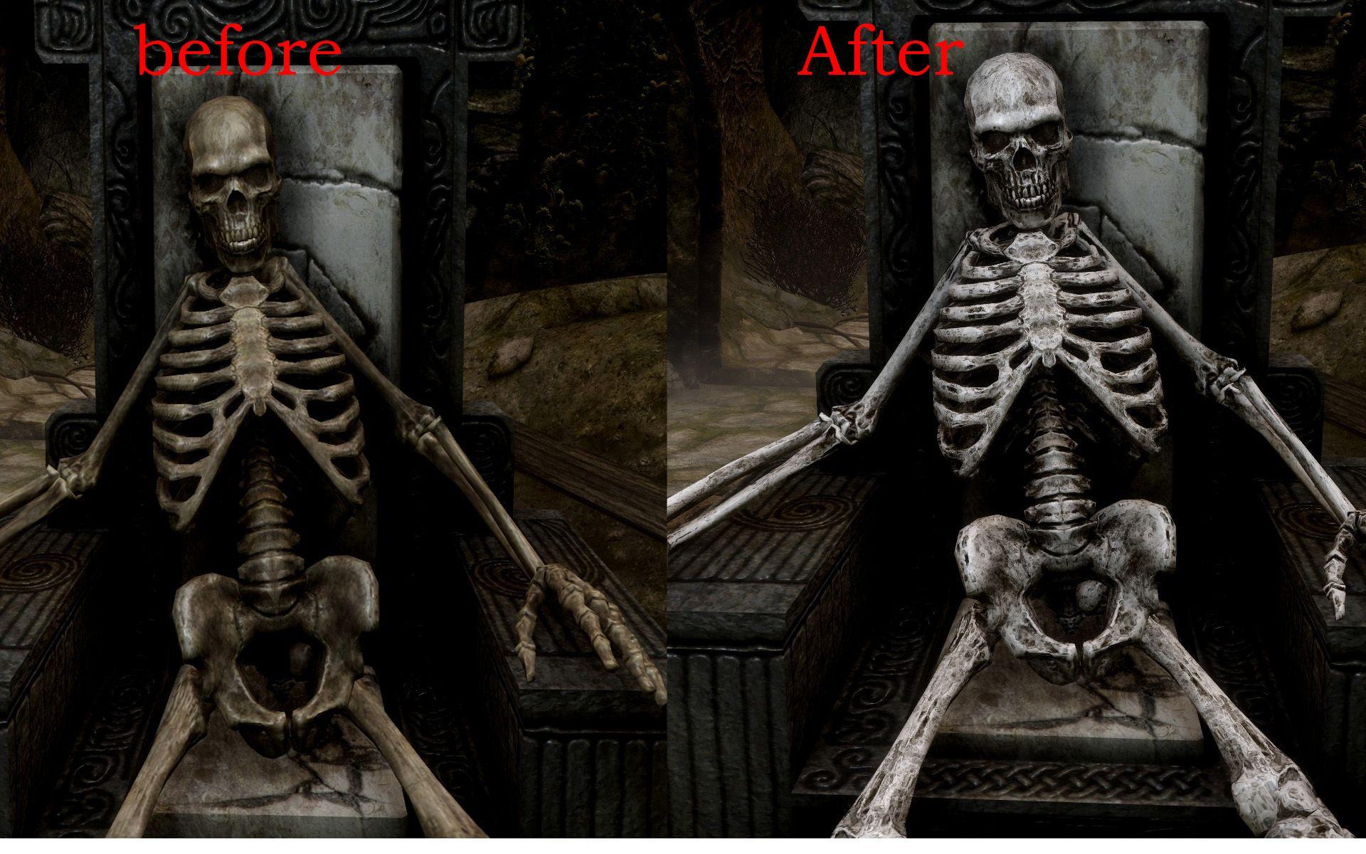 Resultado de imagen para skyrim skeleton Darth vader