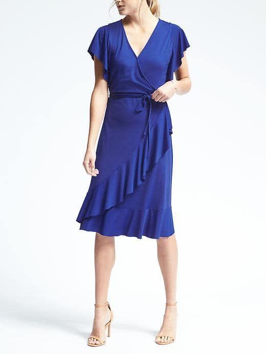 0f0d1dc057 Flounce Wrap Dress