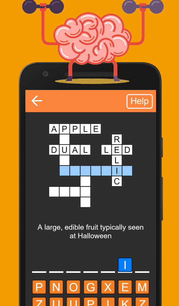 Quick Crosswords, Google Play app. ??? A large, edible