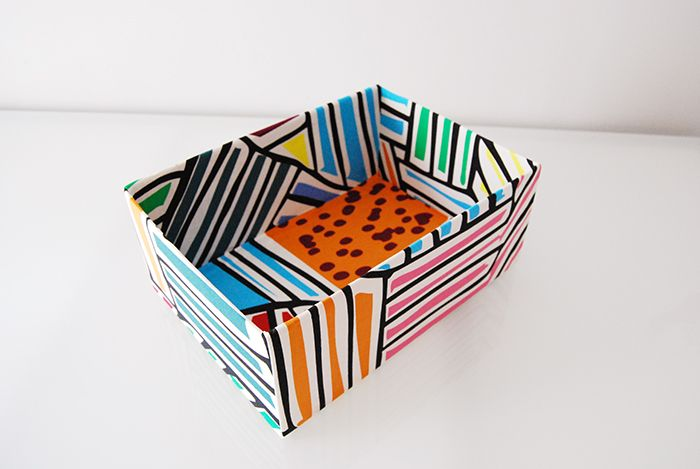 Diy Come Rivestire Una Scatola In Tessuto How To Cover A Box With