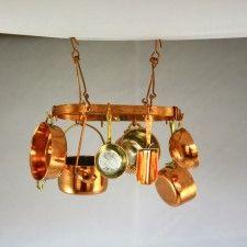 Oval Copper Pot Rack