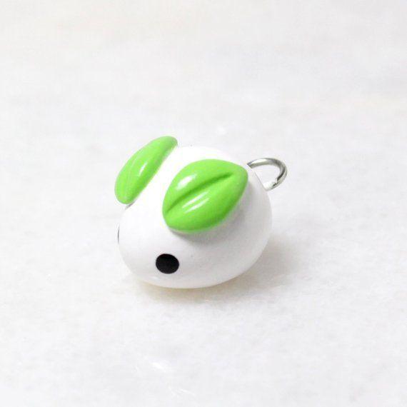 Photo of Kawaii Mochi Bunny Charm – Polymer Clay Charm – Kawaii Schneehase Telefon Charm …