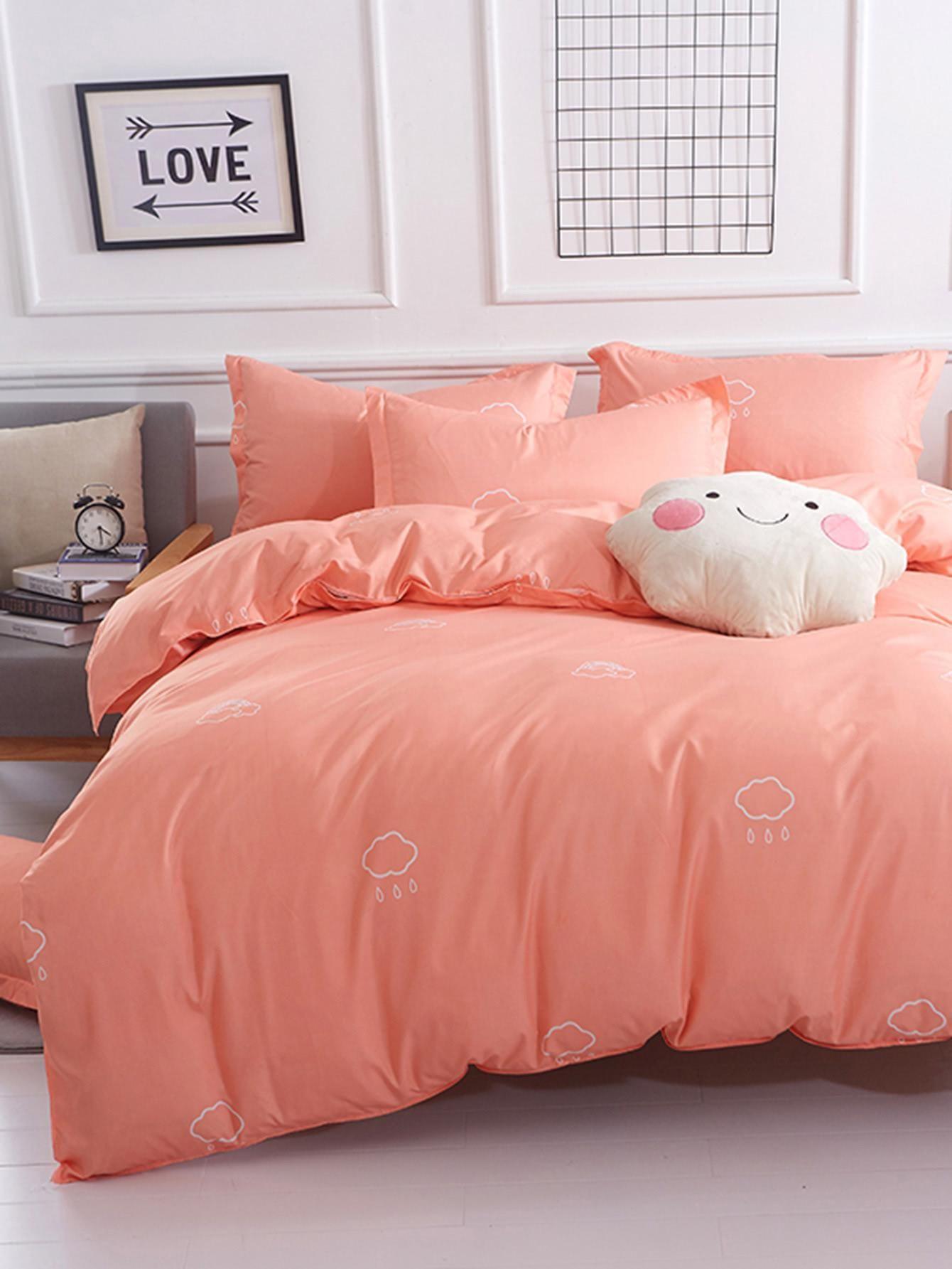 Valentines Adorewe Shein Shein 1 5m 4pcs Cloud Print Bedding