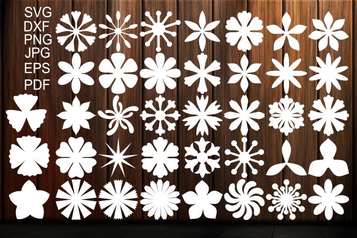Photo of Paper Flower Templates SVG, Flower Center SVG, Origami (211175) | Paper Cutting | Design Bundles