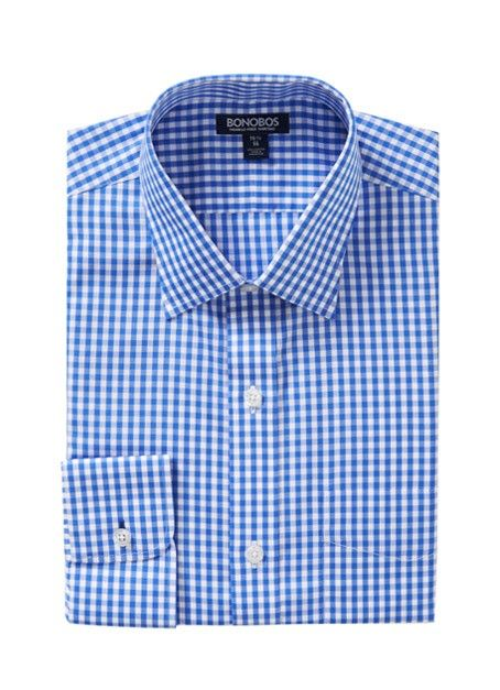 Daily Grind - Point Collar - Blue Gingham