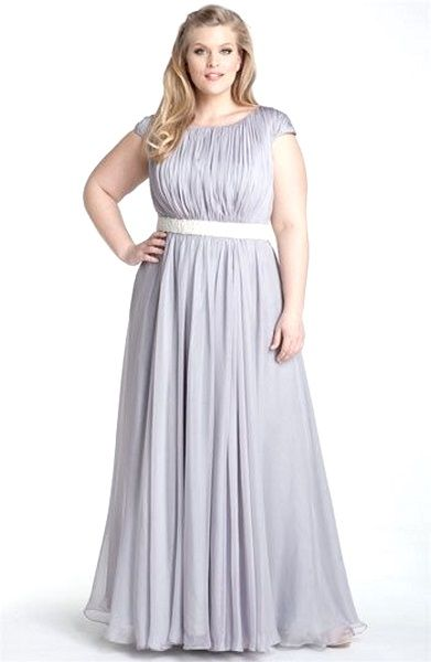 Plus Size Bridesmaid dress for conservative ladies ...