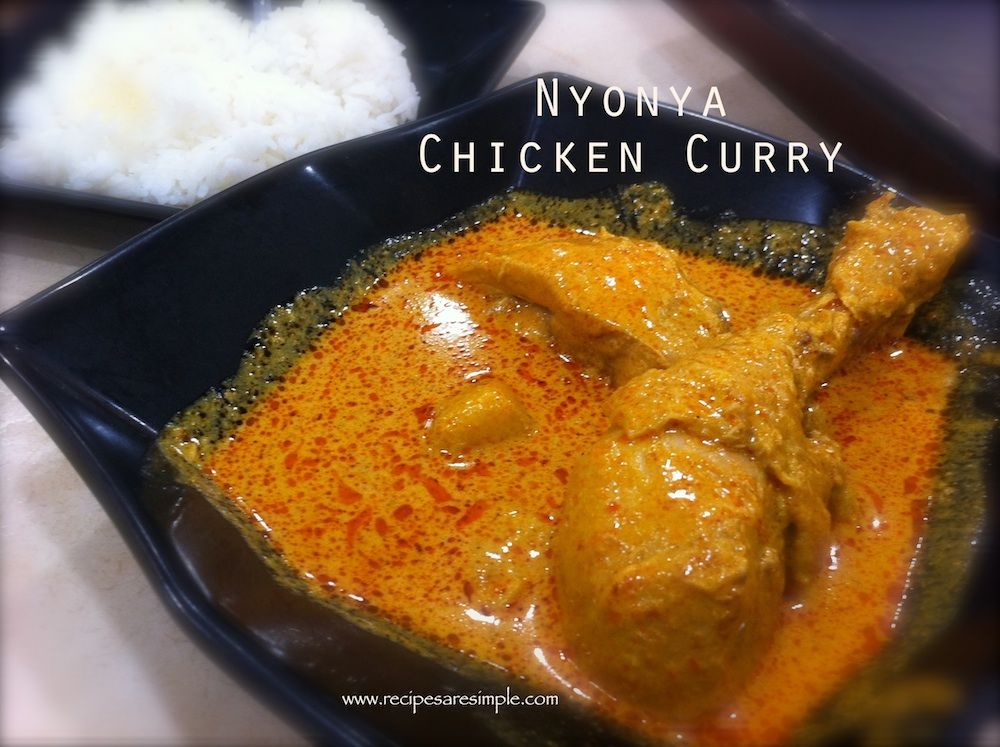 Malaysian Chicken Curry Delicious Nyonya Chicken Curry