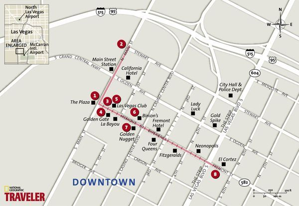 Map Downtowns Fremont Street Favorite Places Spaces