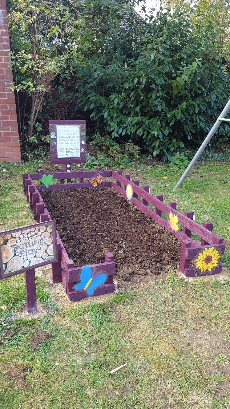 Digging area for kids Play area backyard, Backyard play