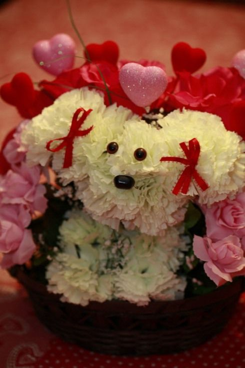 Puppy Bouquet | other | Pinterest | Puppy flowers, Crafty and Flower