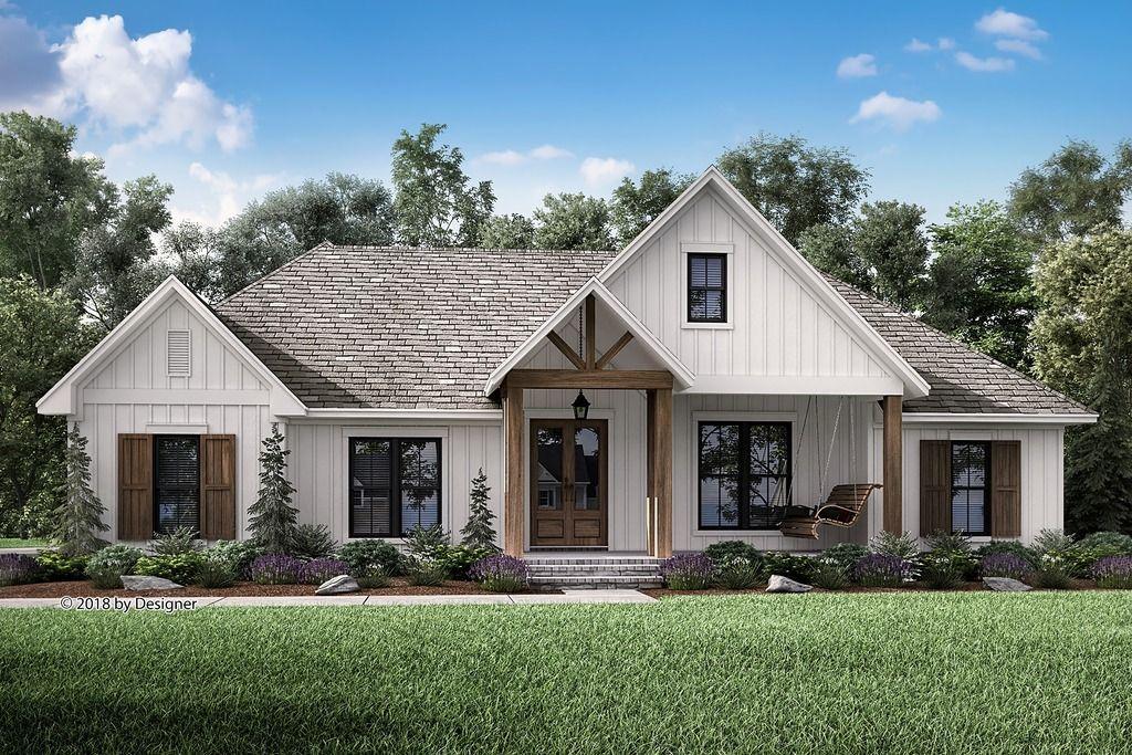 Farmhouse Style House Plan - 3 Beds 2.5 Baths 2201 Sq/Ft Plan -