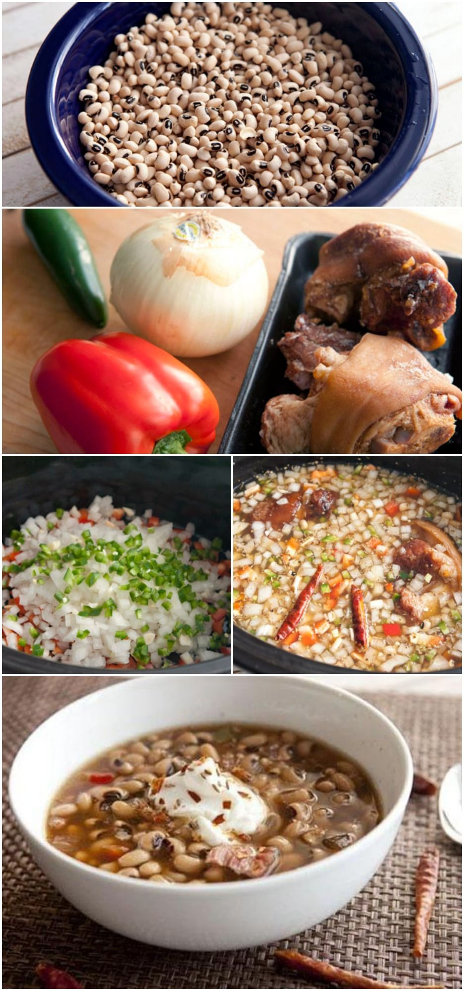 Spicy SlowCooker BlackEyed Peas Recipe Food recipes