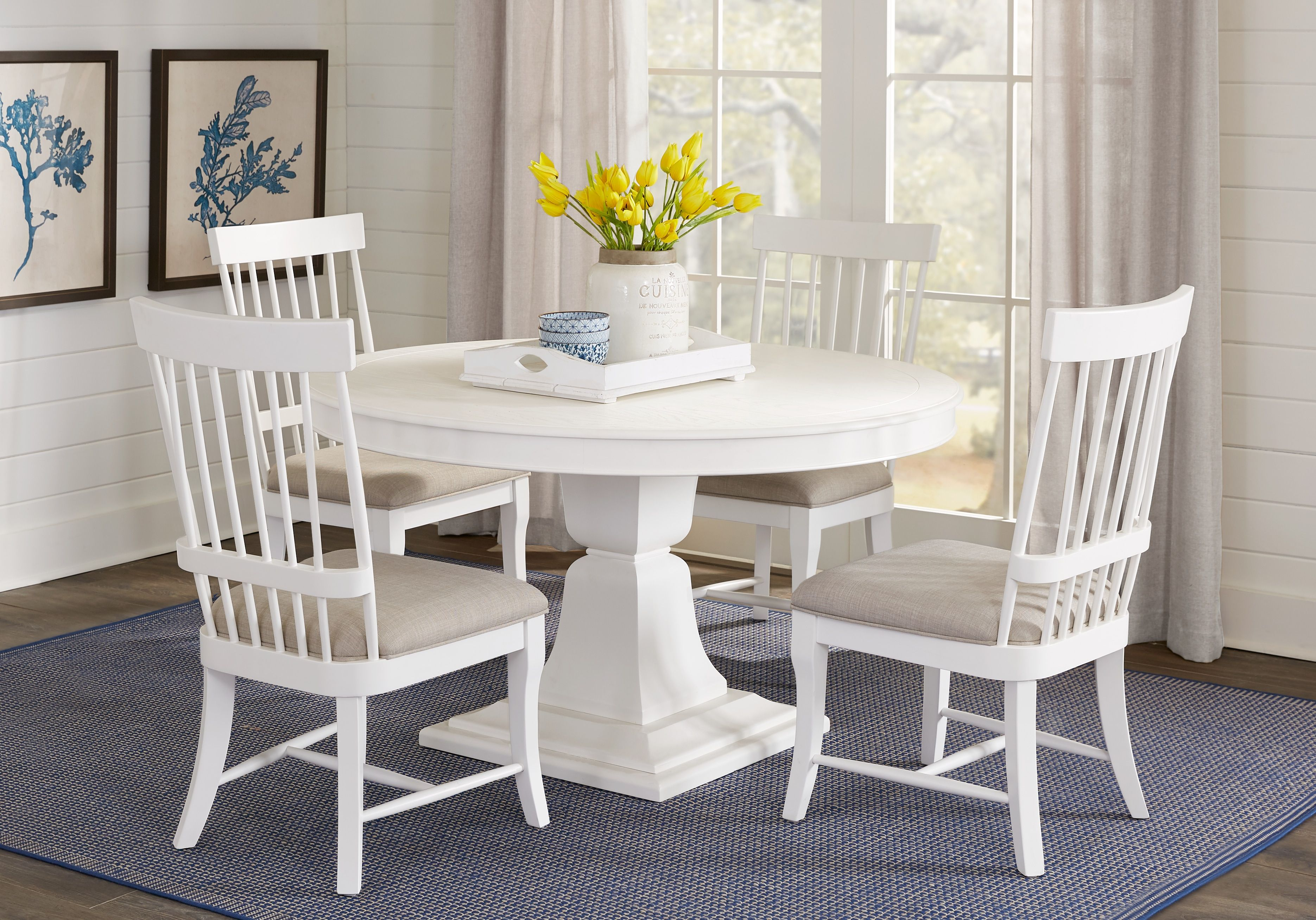 Cindy Crawford Home Cape Cottage White 5 Pc Dining Set Dining