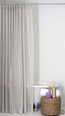 light grey shower curtain in standard and extra long sizes future home gray shower curtains. Black Bedroom Furniture Sets. Home Design Ideas