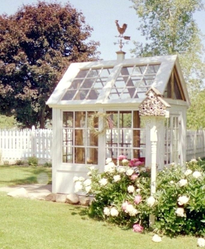 garden shed green house greenhouse made of old windows