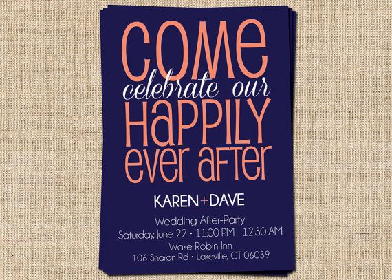 After Party Couples Shower Invitation Come Celebrate By 312ink