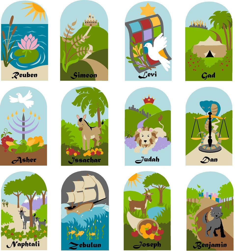 Children s murals diy paint by number wall murals - Twelve Tribes Of Israel A Diy Paint By Number Wall Mural By Elephants On The