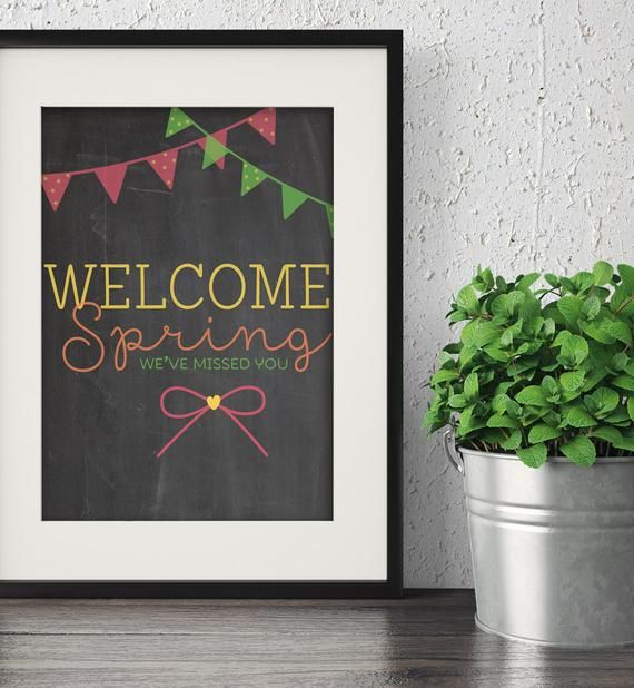 Welcome Sign, chalkboard sign, chalkboard art, spring ...