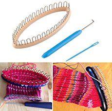 CynKen Wooden Scarf Hat Socks Wool Yarn Knitting Loom DIY Craft Wooden Weaving Tools Kit