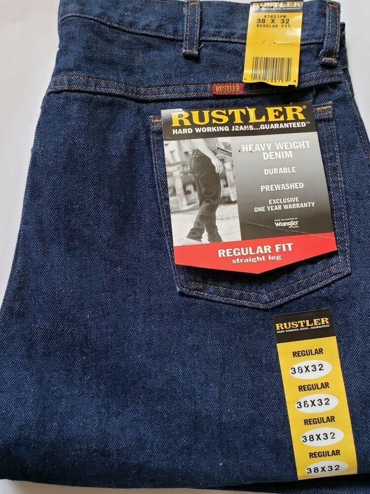 Men S Rustler Jeans 38 X 32 Heavy Duty Work Jeans Regular Fit Straight Leg New Rustler Classic Work Jeans Rustler Jeans Mens Work Pants 87619 rustler regular fit straight leg jean. men s rustler jeans 38 x 32 heavy duty