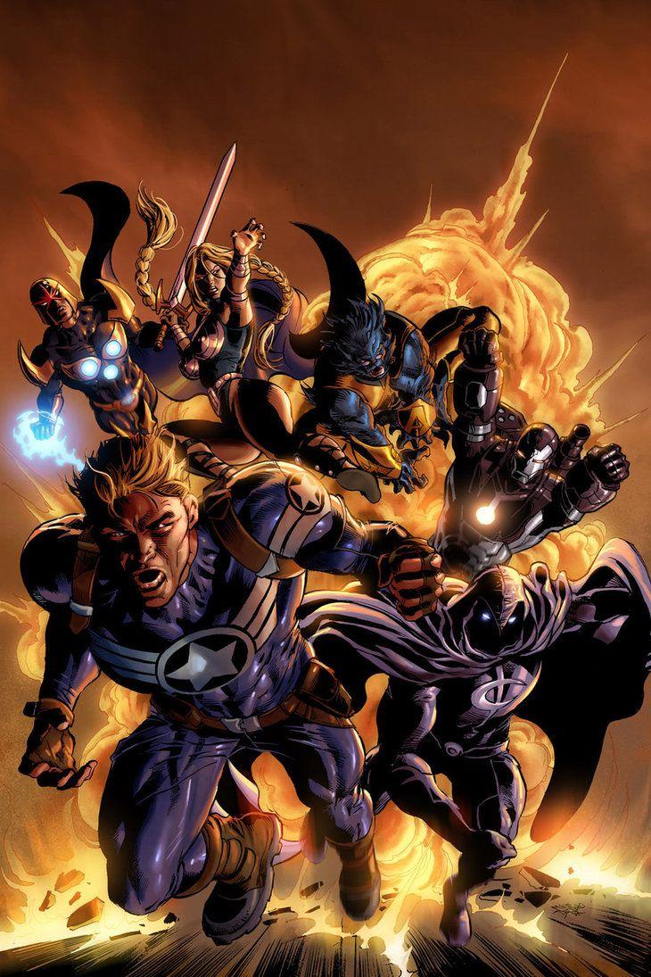 Secret Avengers 01: Step 03 by MikeDeodatoJr on DeviantArt