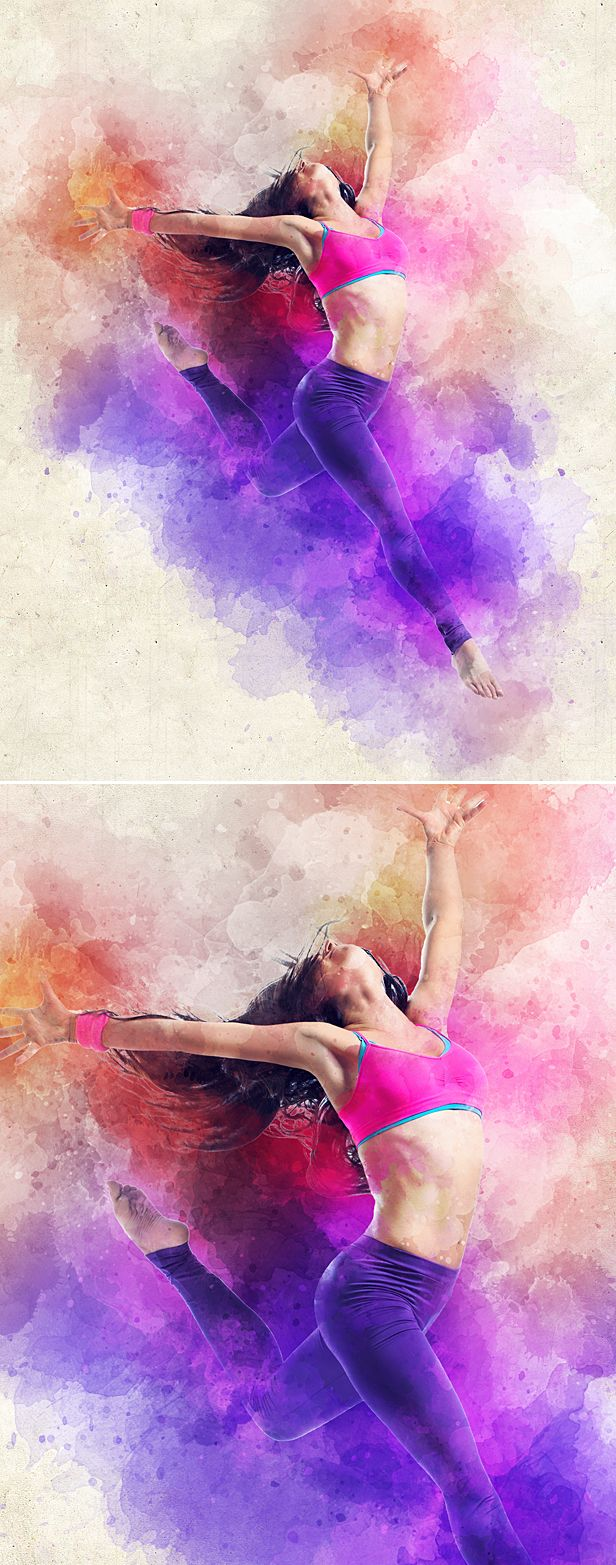 Watercolor Animation Action (с изображениями)