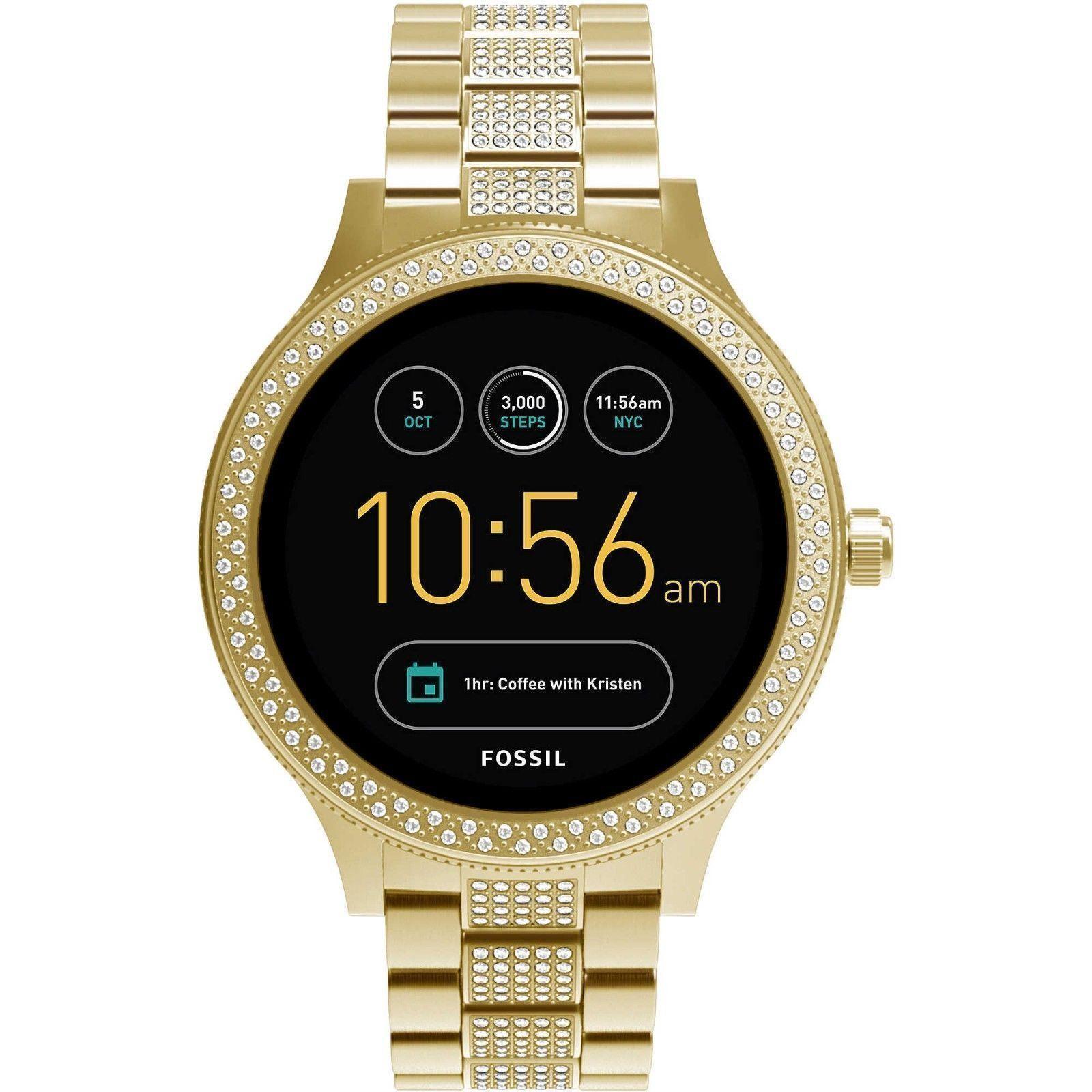 Fossil Q Venture Gen 3 Gold Tone Smartwatch With Gems Ftw6001 Es3862 Original