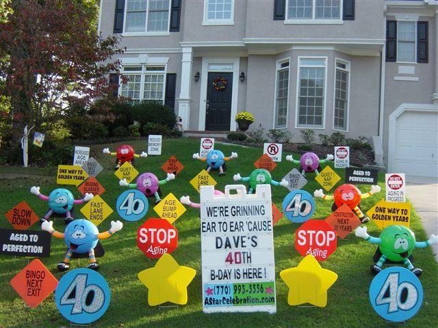 Birthday Yard Signs Yard Sign Displays For All Ages Birthday Yard Signs Happy Birthday Yard Signs Birthday Yard Signs Diy