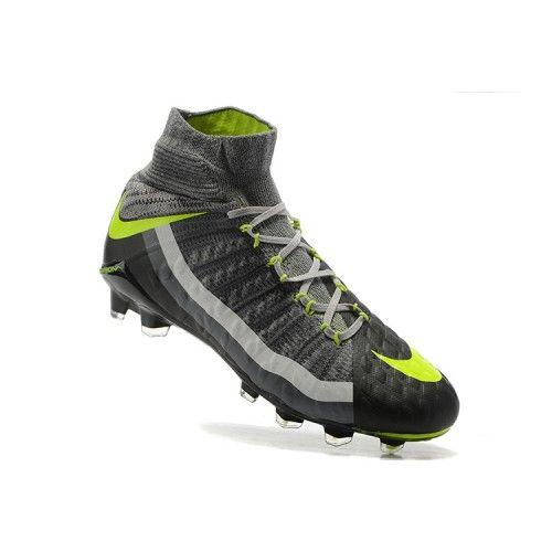 new product 29ee2 4756b ... low price billige fodboldstøvler tilbud bedst 2017 nike hypervenom  phantom iii df fg gra gron fodboldsko