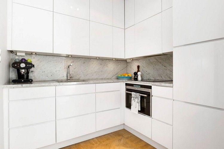 grifflose küchenschränke deckenhoch weiß glanz #küche #kitchen ...