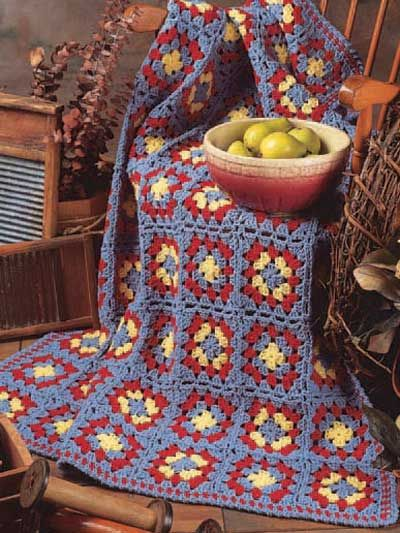 Primarily Country Afghan 39 X 55 No Level Given I Think It