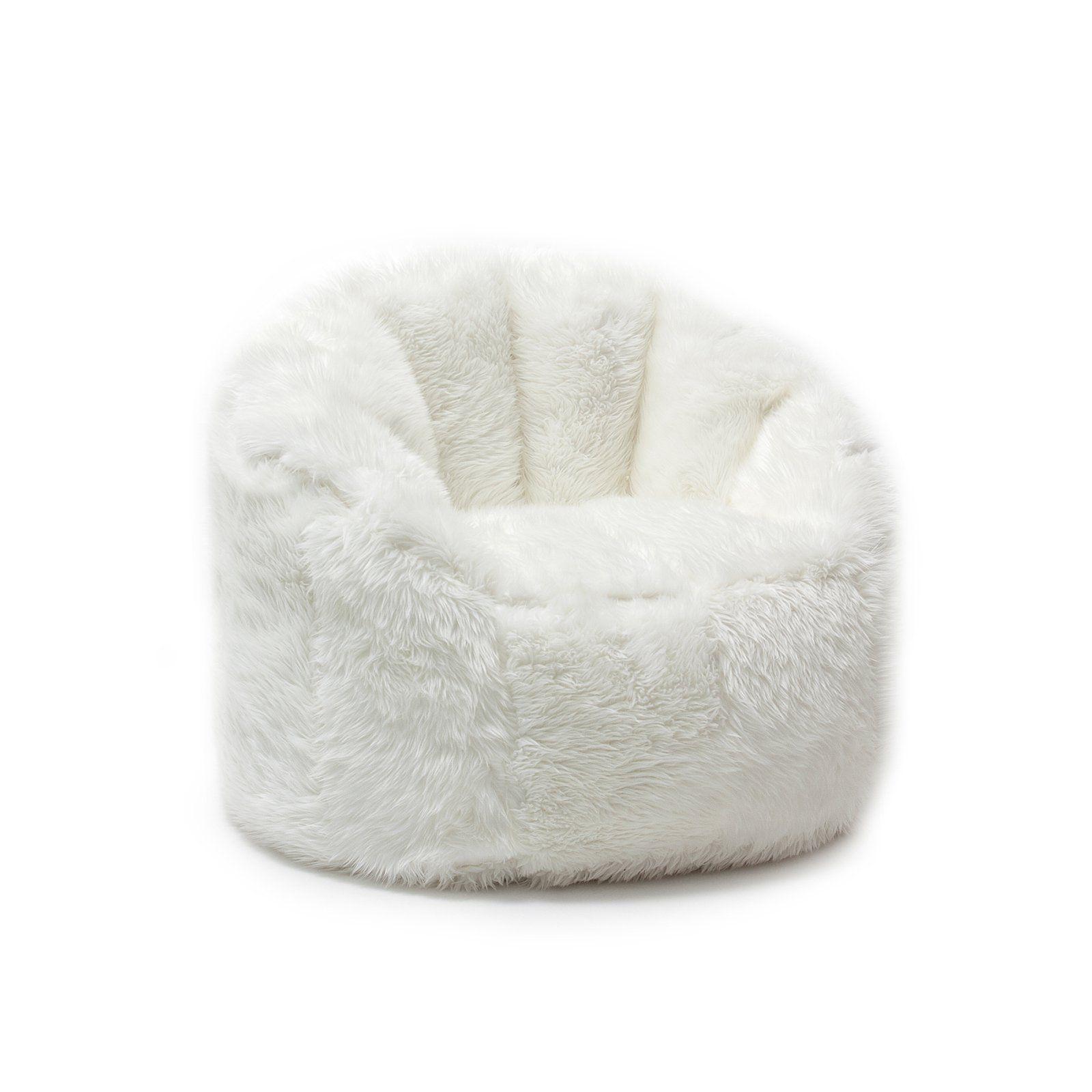 Big Joe Milano Bean Bag Shag Chair Ivory in 2019 Bean