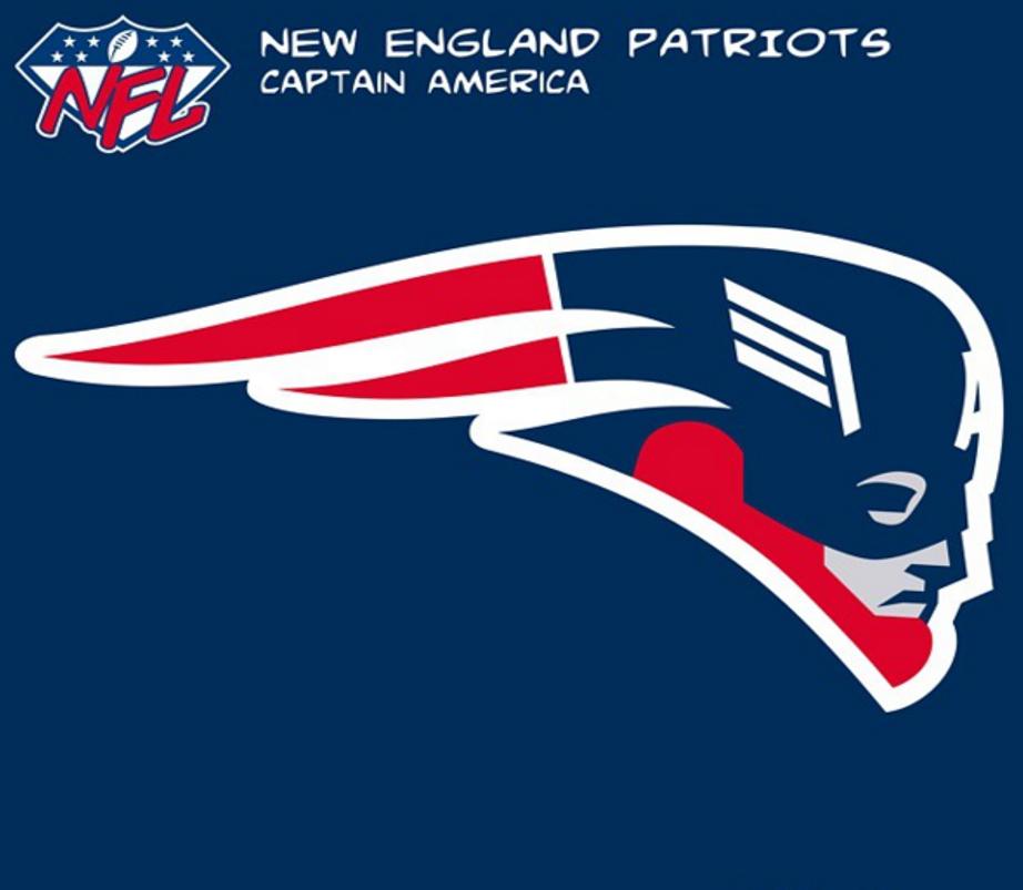 New England Patriots Captain America  458cc9d49dd