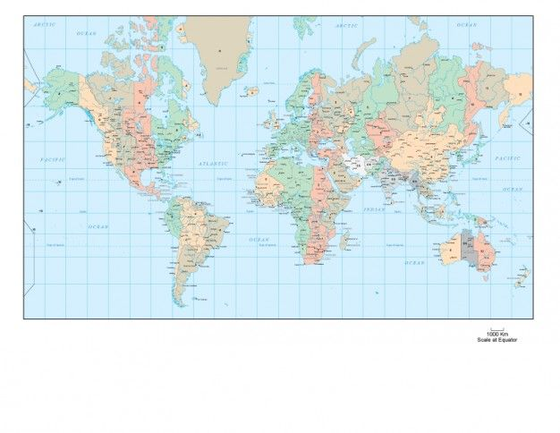 picture about Unf Printable Map named Complete global map vector picture International Drive Map