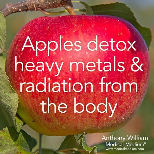 Apples detox heavy metals & radiation from the body Learn more about the hidden healing powers of fruits & vegetables in my new book Life-Changing Foods, link in the profile -