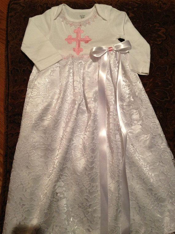 Newborn infant baby christening gown wedding pictures baptism cross ...