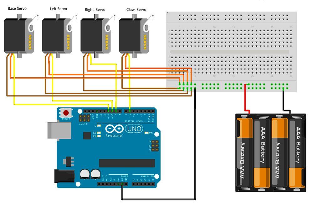 Mearm Arduino Servo Motor Wire Schematic Arduino Servo Arduino Arduino Board