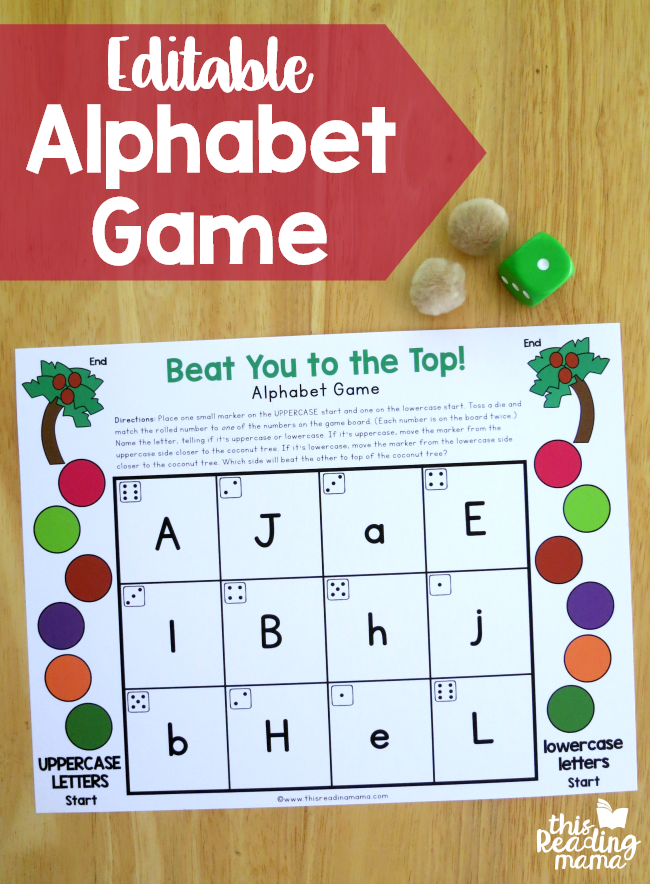 Editable Alphabet Game Uppercase & Lowercase (With