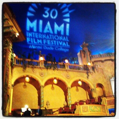 Live organ performance @ the beautiful 1920's Gusman Ctr @MiamiFilmFest